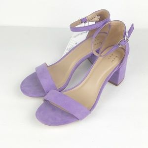 1079cbd615 a new day Shoes | Womens Michaela Lilac Mid Block Heel Pump Sandals ...